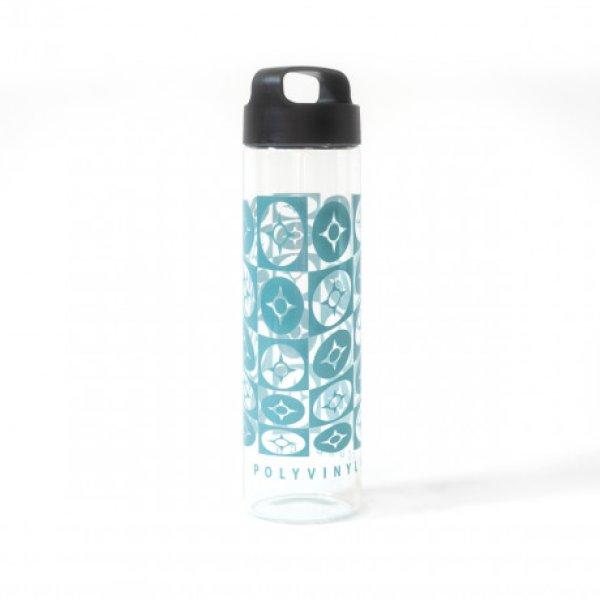 画像1: [Water Bottle]Polyvinyl Distorted Compass Glass Water Bottle Water Bottle (1)